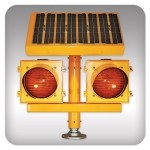 ERGL Solar Powered Elivated Runway Guard Light - Wig Wag
